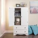 Prepac Manufacturing White Monterey 2 Door Armoire