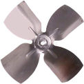 "Small Fixed Hub Fan Blade, 5-1/2"" Dia., 27° Pitch, CCW, 1/4"" Bore, 3/4"" Blade Depth, 4 Blade"