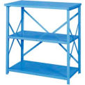 "Erectomatic® Open Counter Unit, Starter, 36""W X 24""D X 39""H, Marine Blue"