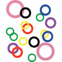 """3/8"""" I.D. x 5/8"""" O.D. x 0.004"""" Plastic Color Coded Arbor Shim (Pack of 10) - Made In USA"""