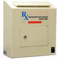 """Protex Prescription Drop Box RX-164 - 6-5/8""""W x 14-1/8""""D x 15-3/4""""H, Beige"""