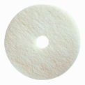 "Boss Cleaning Equipment 16"" White-Polish Pad - Pkg Qty 5"