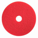 "Boss Cleaning Equipment 19"" Red-Spray Buff Pad - Pkg Qty 5"