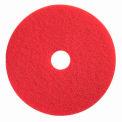 "Boss Cleaning Equipment 22"" Red-Spray Buff Pad - Pkg Qty 5"