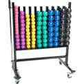 Power Systems Premium Dumbbell Storage Rack with 44 Deluxe Vinyl Dumbbell Pairs