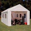 Hercules™ Enclosed Canopy With Windows 20'L x 10'W - White