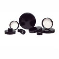 Qorpak CAP-00150 Black Phenolic Pulp/Vinyl Lined Cap, 20-400 Neck Finish, Case of 576
