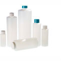 Qorpak PLC-03447 32oz (960ml) Natural HDPE Cylinder Bottle with 28-400 White Cap, Case of 66