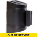 WallPro 300 Black Wall Mount Retracting Barrier, 7.5' Yellow/Black OUT OF SERVICE Belt