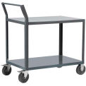 "Akro-Mils® Steel Shelf Cart 24x48 2 Lip Down Sway Back Handle 5"" Polyolefin R1S5HR2LD2448"