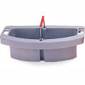 "Rubbermaid® 2-Compartment Maid Carry Caddy 16"" x 9"" x 5"", Gray - RCP2649GRA - Pkg Qty 4"