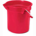 "Rubbermaid® Brute 10 Qt. Round Plastic Utitilty Bucket 10-1/2"" Dia x 10-1/4""H, Red - RCP2963RED - Pkg Qty 12"