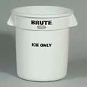 "Rubbermaid Commercial FG9F8600WHT Brute® ""ICE ONLY"" Container"