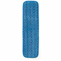 "Rubbermaid® HYGEN™ 18"" Microfiber Damp Room Mop - Blue - Pkg Qty 12"
