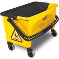 Rubbermaid® HYGEN 43Qt. Press Wring Bucket For Microfiber Flat Mops, Yellow - RCPQ90088YW