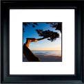 "Crystal Art Gallery - Carmel Sunset - 26""W x 26""H, Double Mat Framed Art"