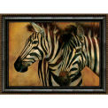 "Crystal Art Gallery - Framed Canvas Zebra 2 - 40""W x 30""H, Straight Fit Framed"