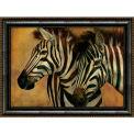 "Crystal Art Gallery - Framed Canvas Zebra 2 - 40""W x 30""H, Straight Fit Framed"