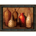 "Crystal Art Gallery - Framed Canvas w/Foil Spice Vessels - 40""W x 30""H, Straight Fit Framed"
