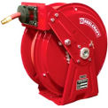 "Reelcraft DP7850 OMP 1/2""x50' 3000 PSI Heavy Duty Spring Retractable Compact Dual Pedestal Hose Reel"