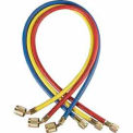 "Three-Pack 1/4"" Charging Hoses with Anti-Blow Back Fitting"