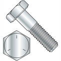 1/4-20 X 3/4 Hex Head Cap Screw - Grade 5 - High Carbon Steel - Zinc - Pkg Of 100