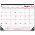 Brownline® Desk Pad Calendar, Chipboard, 22 x 17, 2016
