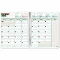Blueline® DuraGlobe Monthly Planner, Hard Cover, 11 x 8-1/2, Black,2015