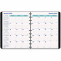 Blueline® MiracleBind 17-Mo. Academic Planner, Soft Cover, 9-1/4 x 7-1/4, Black, 2015