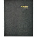 Blueline® MiracleBind 17-Mo. Academic Planner, Hard Cover, 9-1/4 x 7-1/4, Black, 2015