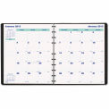 Blueline® MiracleBind 17-Month Academic Planner, Soft Cover, 11 x 9-1/16, Black, 2015