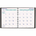 Blueline® MiracleBind 17-Month Academic Planner, Hard Cover, 11 x 9-1/16, Black, 2015