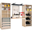 "Multipurpose Workstation for Taper 40 - 36""Wx24""Dx87""H Beige"