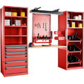"Multipurpose Workstation for HSK 50 - 36""Wx24""Dx87""H Red"