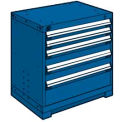 "5 Drawer Bench High 30""W Heavy-Duty Cabinet - Avalanche Blue"