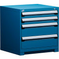 "4 Drawer Bench High 30""W Heavy-Duty Cabinet - Avalanche Blue"
