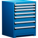 "Rousseau Metal Heavy Duty Modular Drawer Cabinet 7 Drawer Counter High 30""W - Avalanche Blue"