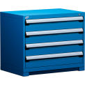 "4 Drawer Bench High 36""W Heavy-Duty Cabinet - Avalanche Blue"