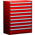 "9 Drawer Full Height 48""W Heavy-Duty Cabinet - Red"