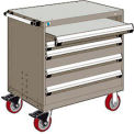 "4 Drawer Heavy-Duty Mobile Cabinet - 30""Wx21""Dx37-1/2""H Light Gray"