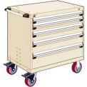 "5 Drawer Heavy-Duty Mobile Cabinet - 30""Wx27""Dx37-1/2""H Beige"