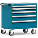 "5 Drawer Heavy-Duty Mobile Cabinet - 36""Wx24""Dx37-1/2""H Everest Blue"
