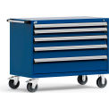 "5 Drawer Heavy-Duty Mobile Cabinet - 48""Wx24""Dx37-1/2""H Avalanche Blue"