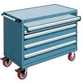 "4 Drawer Heavy-Duty Mobile Cabinet - 48""Wx24""Dx37-1/2""H Everest Blue"