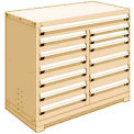 "13 Drawer Counter High 48""W Multi-Drawer Cabinet - Beige"