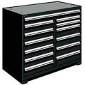 "13 Drawer Counter High 48""W Multi-Drawer Cabinet - Black"