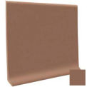 "Cove Base Pinnacle Rubber 4""X1/8""X48"" - Toffee"