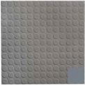 Rubber Tile Low Profile Circular Design 50cm - Dark Gray
