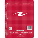 "Roaring Spring WB Notebook, 1 Sub, 4x4 Graph Rule, 10-1/2"" x 8"", White, 100 Sheets/Pad, 24 Pads/Pack"