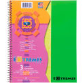 "Roaring Spring Extremes Notebook - 3 Subject, 11"" x 9"", White, 150 Sheets/Pad, 12 Pads/Pack"